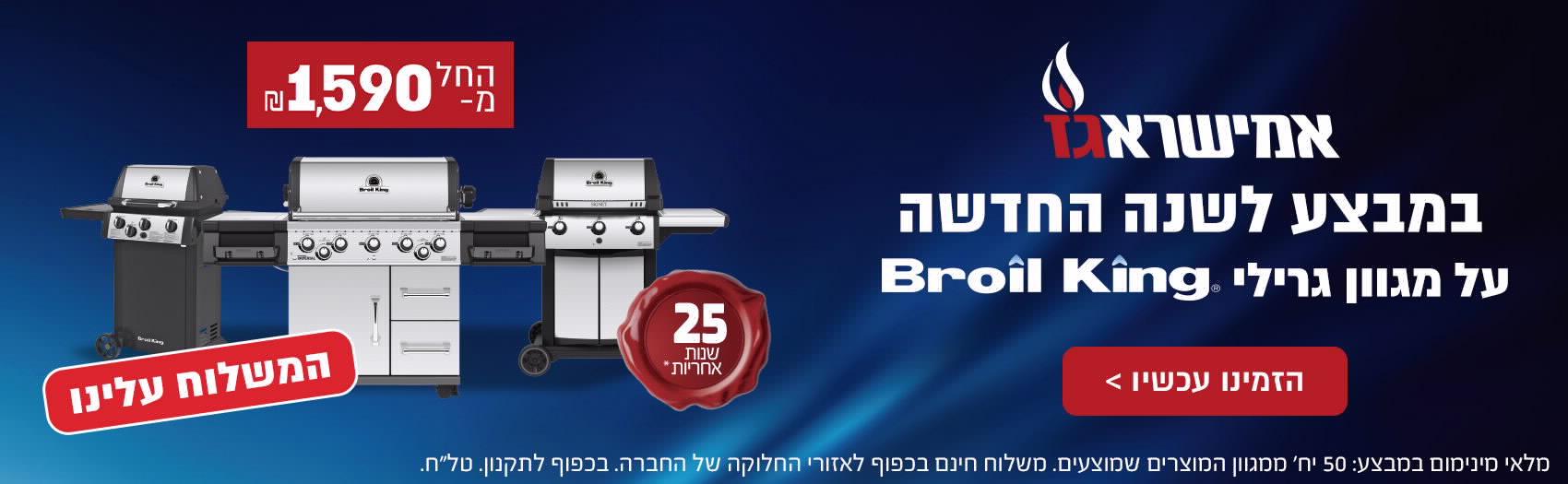 אמישראגז במבצע לשנה החדשה מגוון גרילי broil king