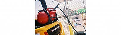 הנעת מלגזות בגז